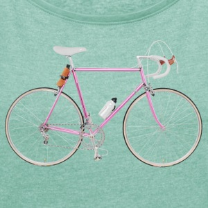 racing bike 80s T-Shirts - Women's T-shirt with rolled up sleeves