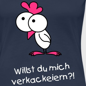 Surprised chick T-Shirts - Frauen Premium T-Shirt
