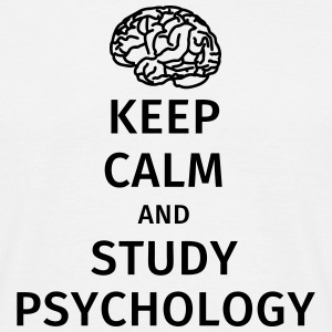 keep calm and study psychology T-shirts - Herre-T-shirt