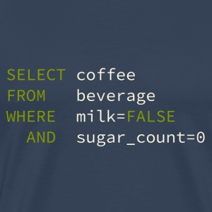 SQL coffee green DarkBackground T-shirts - Mannen Premium T-shirt