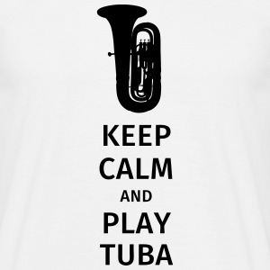 keep calm and play tuba T-shirts - Herre-T-shirt