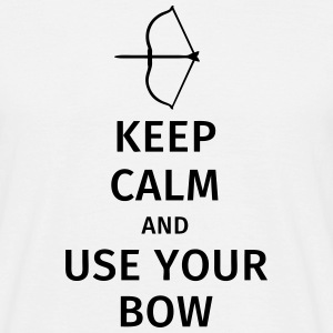 keep calm and use your bow T-shirts - Mannen T-shirt