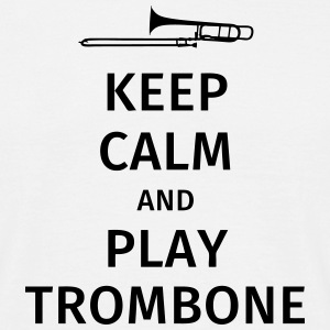 keep calm and play trombone T-shirts - Mannen T-shirt