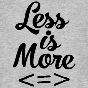 Less Is More T-shirts - Mannen Bio-T-shirt