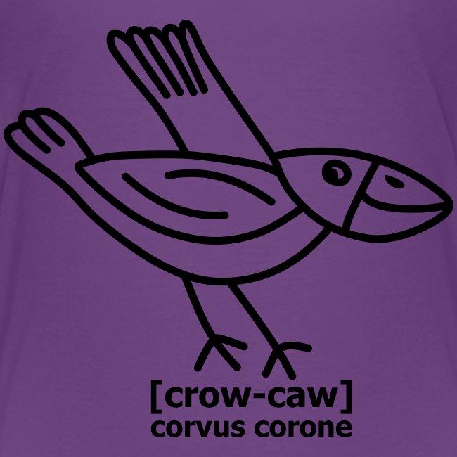 Kråka is pronounced Crow-caw