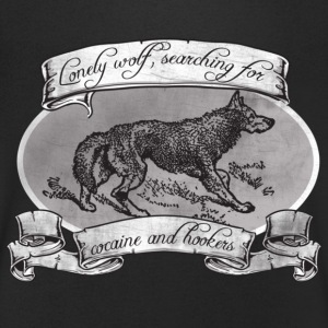 LONE WOLF - SEARCHING FOR HOOKERS AND COCAINE T-shirts - T-shirt med v-ringning herr