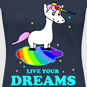 Live your Dreams T-shirts - Vrouwen Premium T-shirt