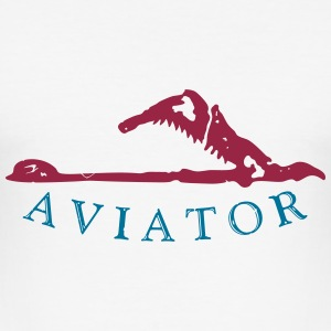 aviator plane_vec_2 en T-Shirts - Men's Slim Fit T-Shirt