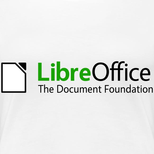 LibreOffice T-Shirt for women, white