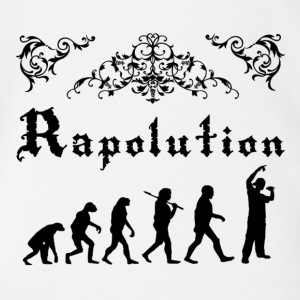 Rap Evolution Shirts - Baby bio-rompertje met korte mouwen