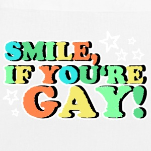 SMILE IF YOU'RE GAY Bags & Backpacks - EarthPositive Tote Bag