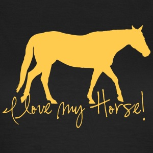 I love my horse T-skjorter - T-skjorte for kvinner