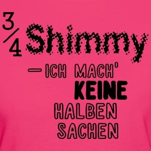 3/4-Shimmy T-Shirt bunt/hell - Frauen Bio-T-Shirt