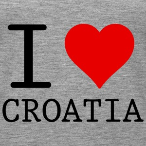 I LOVE CROATIA Topper - Premium singlet for kvinner