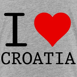I LOVE CROATIA Shirts - Teenage Premium T-Shirt