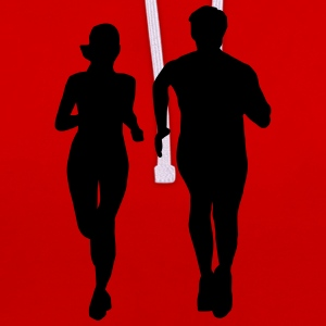 running man and woman Sweat-shirts - Sweat-shirt contraste