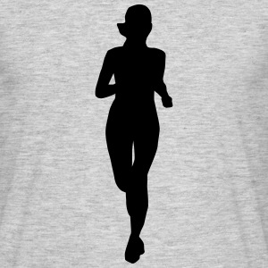 woman running, run T-shirts - T-shirt herr