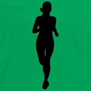 woman running, run Camisetas - Camiseta contraste mujer