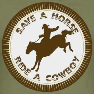 Safe a Horse - ride a Cowboy T-Shirts - Männer Slim Fit T-Shirt