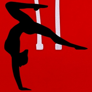 gymnast, gymnastics handstand Sweat-shirts - Sweat-shirt contraste