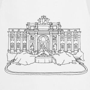 Rome Trevi Fountain  Aprons - Cooking Apron