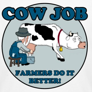 COW JOB T-shirts - Ekologisk T-shirt herr