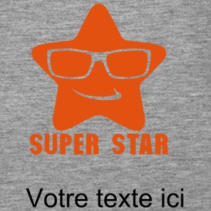 Add text star super 0 Tops - Women's Premium Tank Top
