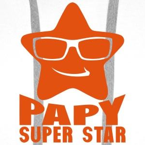papy etoile super star 0 Sweat-shirts - Sweat-shirt à capuche Premium pour hommes