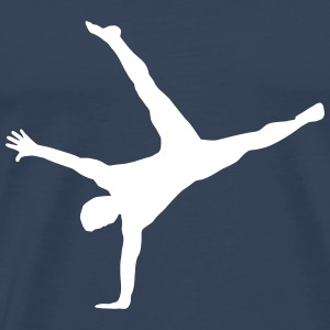 gymnast, gymnastics - breakdance, handstand, flair T-Shirts - Men's Premium T-Shirt