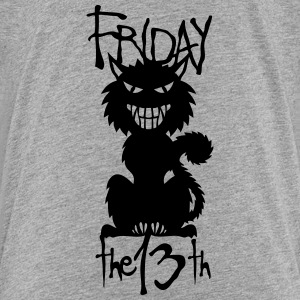 black cat friday 13 halloween Shirts - Kids' Premium T-Shirt
