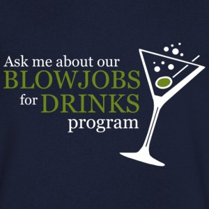 BLOWJOB FOR DRINKS PROGRAM T-shirts - Herre T-shirt med V-udskæring