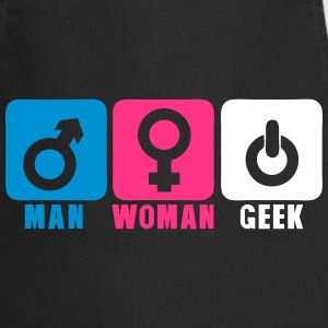 man woman geek logo 206 Tabliers - Tablier de cuisine