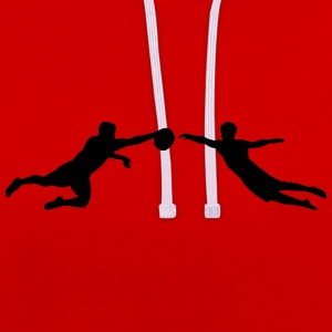 Ultimate Frisbee men Hoodies & Sweatshirts - Contrast Colour Hoodie