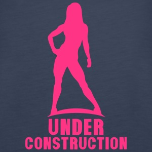 under construction bodybuilding logo 2 Tops - Frauen Premium Tank Top