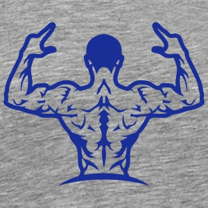 Bodybuilding back muscle man 1063 T-Shirts - Men's Premium T-Shirt
