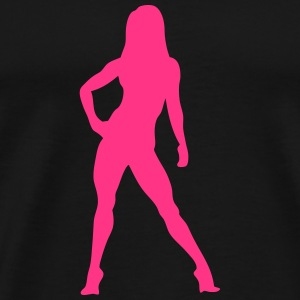 Silhouette woman bodybuilding fitness 10 T-Shirts - Men's Premium T-Shirt