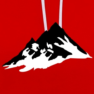 mountain, mountains Hoodies & Sweatshirts - Contrast Colour Hoodie