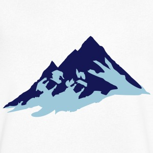 mountain, mountains T-shirts - Mannen T-shirt met V-hals