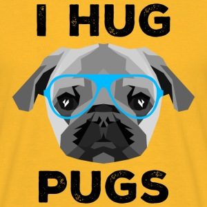 I Hug Pugs (Low Poly Style) Tee shirts - T-shirt Homme