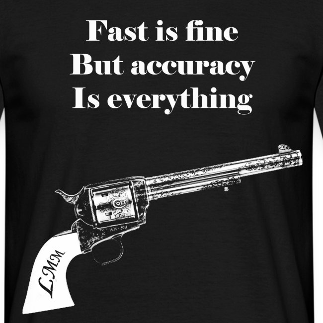 """T-shirt homme noir """"Wyatt Earp"""" maxi motif"""