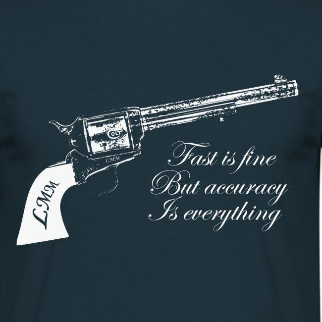 """T-shirt homme bleu """"Wyatt Earp"""""""
