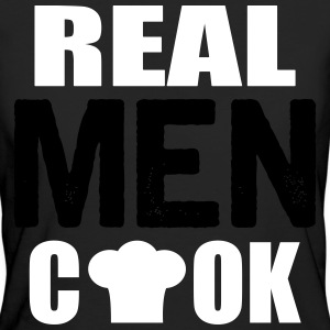 real men cook Tee shirts - T-shirt Bio Femme
