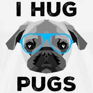 I Hug Pugs (Low Poly Style) T-shirts - Mannen Premium T-shirt
