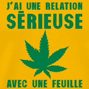 relation serieuse feuille cannabis drogu Tee shirts - T-shirt Premium Homme