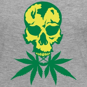 No cannabis drug skull Long Sleeve Shirts - Women's Premium Longsleeve Shirt