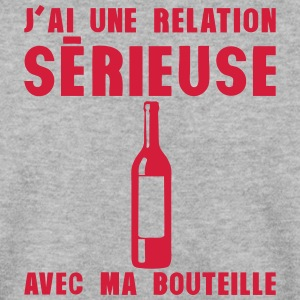 relation serieuse bouteille vin alcool Sweat-shirts - Sweat-shirt Homme