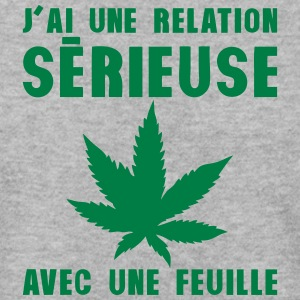 relation serieuse feuille cannabis drogu Sweat-shirts - Sweat-shirt Homme