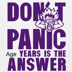 Add age years dont panic birthday Sports wear - Men's Premium Tank Top