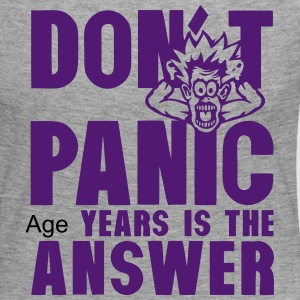 Add age years dont panic birthday Long Sleeve Shirts - Women's Premium Longsleeve Shirt