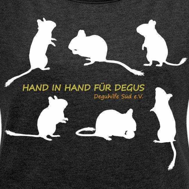 Hand in Hand für Degus - Schattenriss